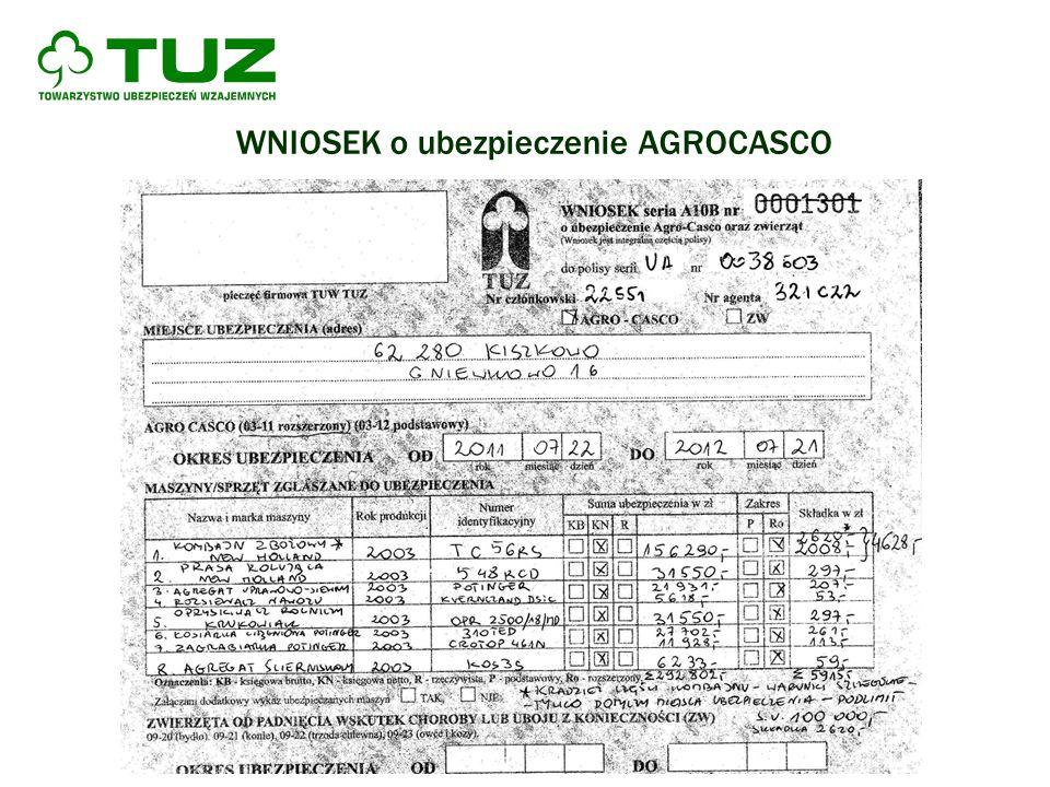 WNIOSEK o ubezpieczenie AGROCASCO