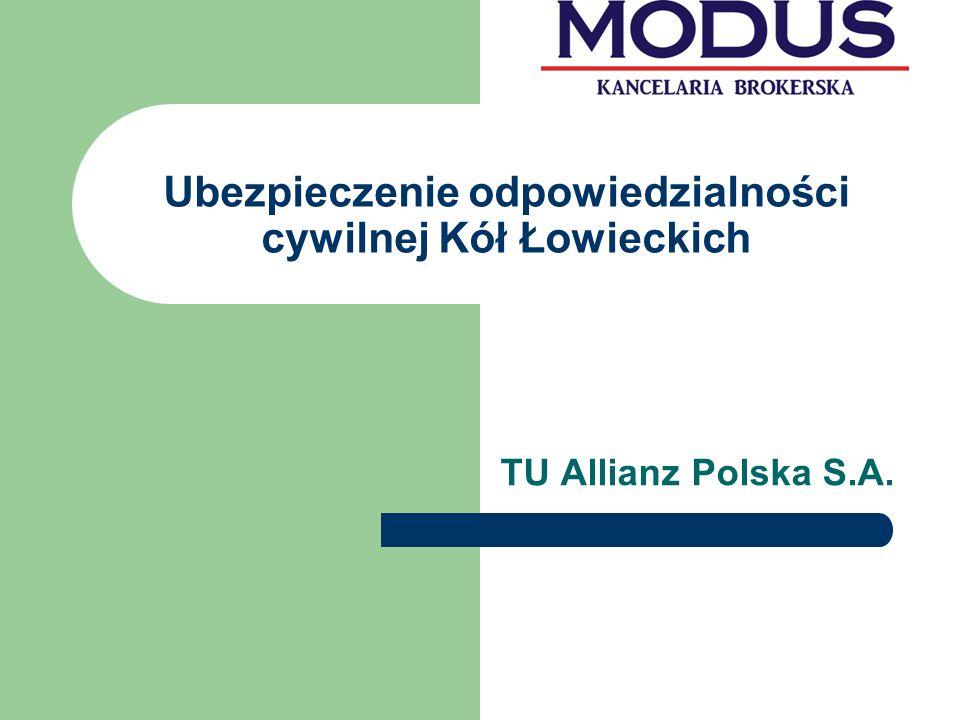 Ubezpieczenie odpowiedzialności cywilnej Kół Łowieckich TU Allianz Polska S.A.