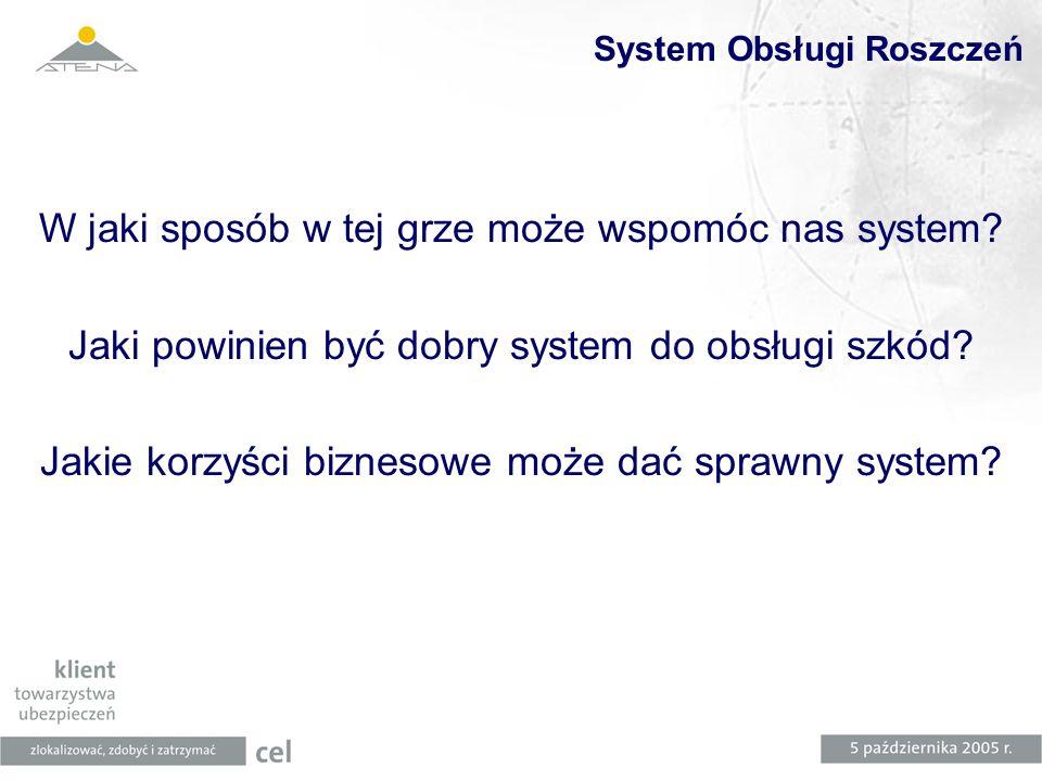 System Obsługi Roszczeń W jaki sposób w tej grze może wspomóc nas system? Jaki powinien być dobry system do obsługi szkód? Jakie korzyści biznesowe mo