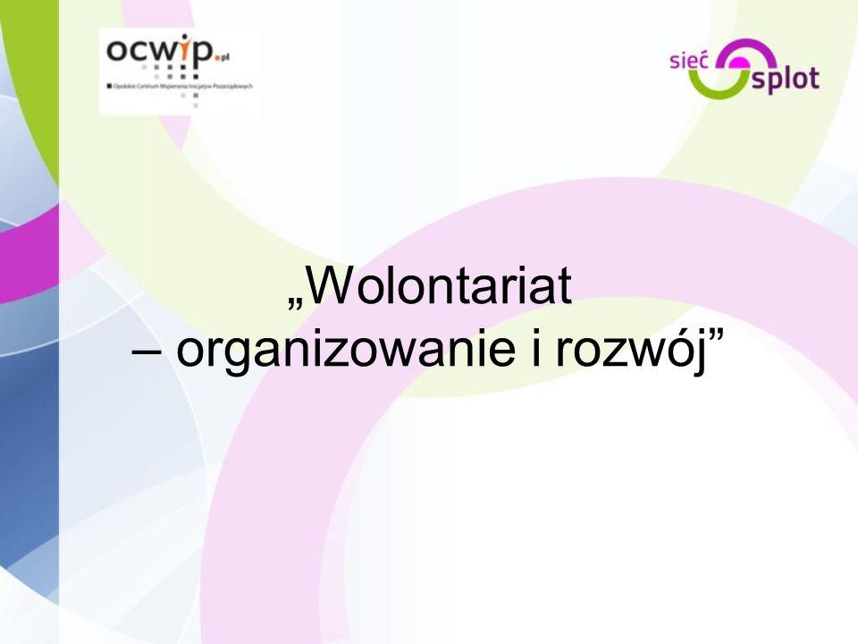 Wolontariat – organizowanie i rozwój