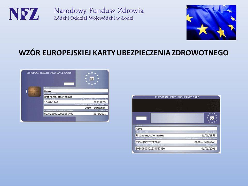 WZÓR EUROPEJSKIEJ KARTY UBEZPIECZENIA ZDROWOTNEGO