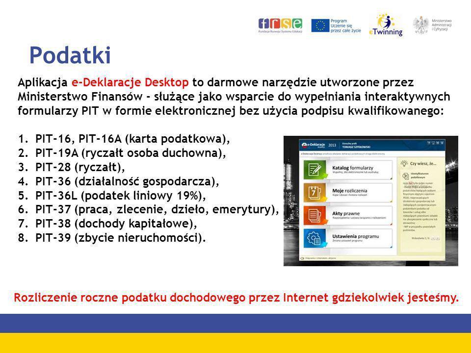 Podatki Aplikacja e-Deklaracje Desktop to darmowe narzędzie utworzone przez Ministerstwo Finansów - służące jako wsparcie do wypełniania interaktywnyc