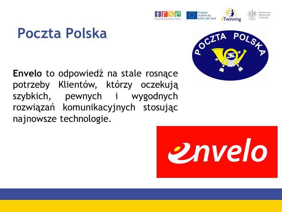 Poczta Polska Envelo to odpowiedź na stale rosnące potrzeby Klientów, którzy oczekują szybkich, pewnych i wygodnych rozwiązań komunikacyjnych stosując