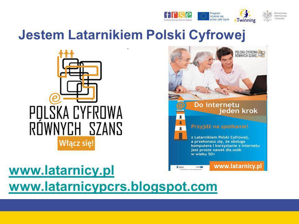 Jestem Latarnikiem Polski Cyfrowej www.latarnicy.pl www.latarnicypcrs.blogspot.com