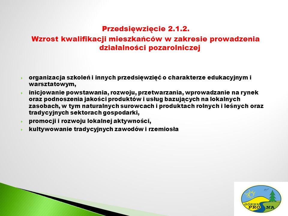 Przedsięwzięcie 2.1.2.