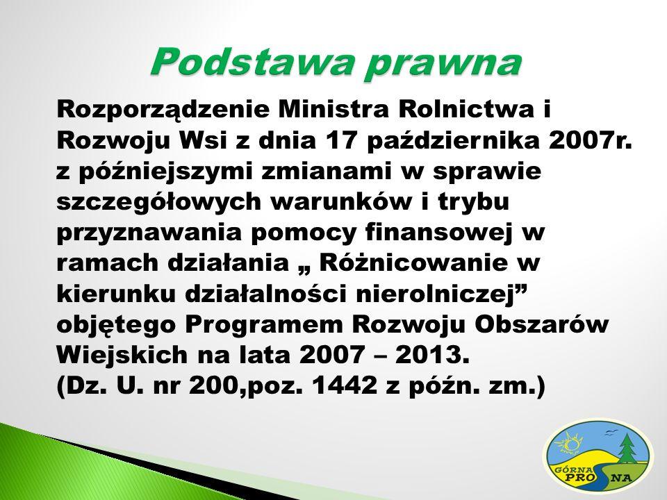 Rozporządzenie Ministra Rolnictwa i Rozwoju Wsi z dnia 17 października 2007r.