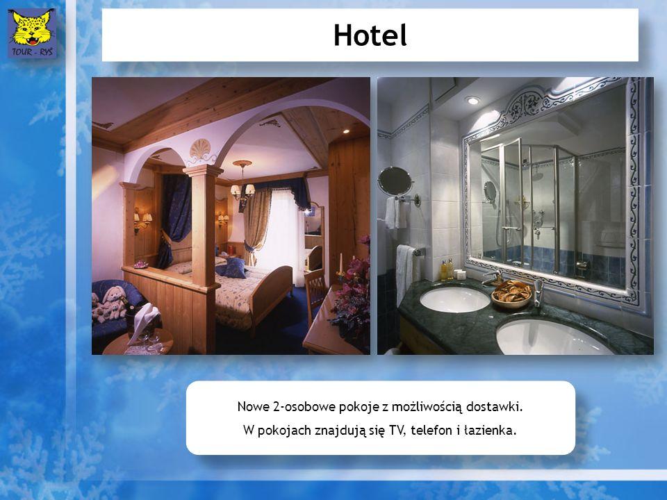 Hotel Nowe 2-osobowe pokoje z możliwością dostawki. W pokojach znajdują się TV, telefon i łazienka. Nowe 2-osobowe pokoje z możliwością dostawki. W po