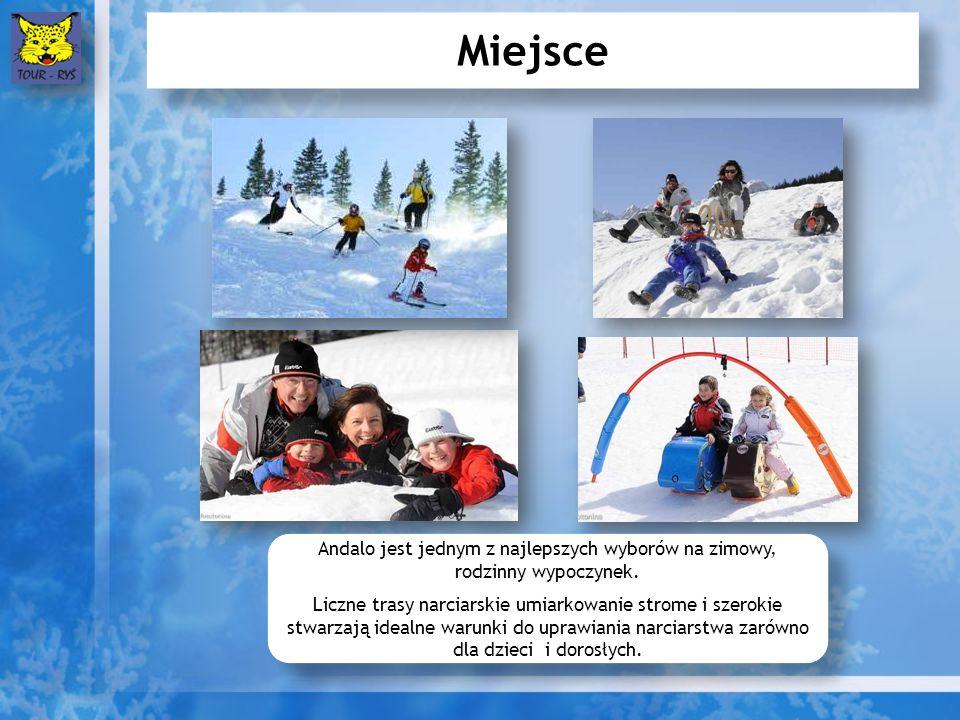 Miejsce Andalo jest jednym z najlepszych wyborów na zimowy, rodzinny wypoczynek. Liczne trasy narciarskie umiarkowanie strome i szerokie stwarzają ide