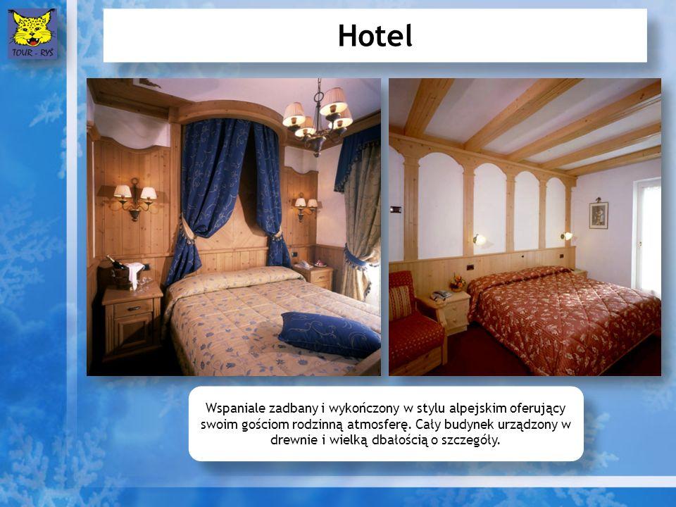 Hotel Wspaniale zadbany i wykończony w stylu alpejskim oferujący swoim gościom rodzinną atmosferę. Cały budynek urządzony w drewnie i wielką dbałością