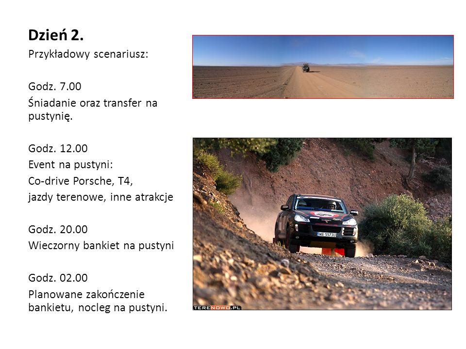 Dzień 2. Przykładowy scenariusz: Godz. 7.00 Śniadanie oraz transfer na pustynię.