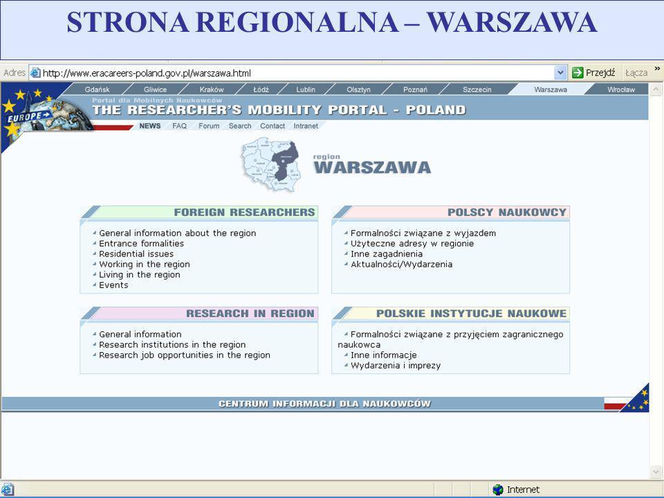 STRONA REGIONALNA – WARSZAWA