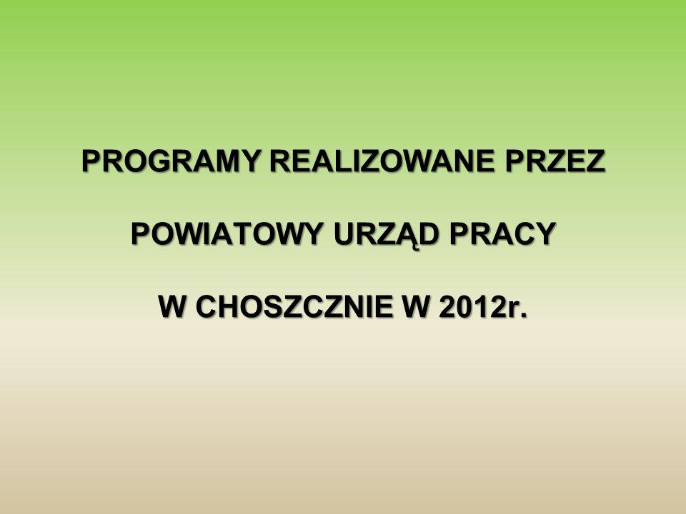 Projekt skierowany jest do zarejestrowanych osób bezrobotnych, przede wszystkim: Projekt skierowany jest do zarejestrowanych osób bezrobotnych, przede wszystkim: Powiatowy Urząd Pracy w Choszcznie kontynuuje w 2012 r.
