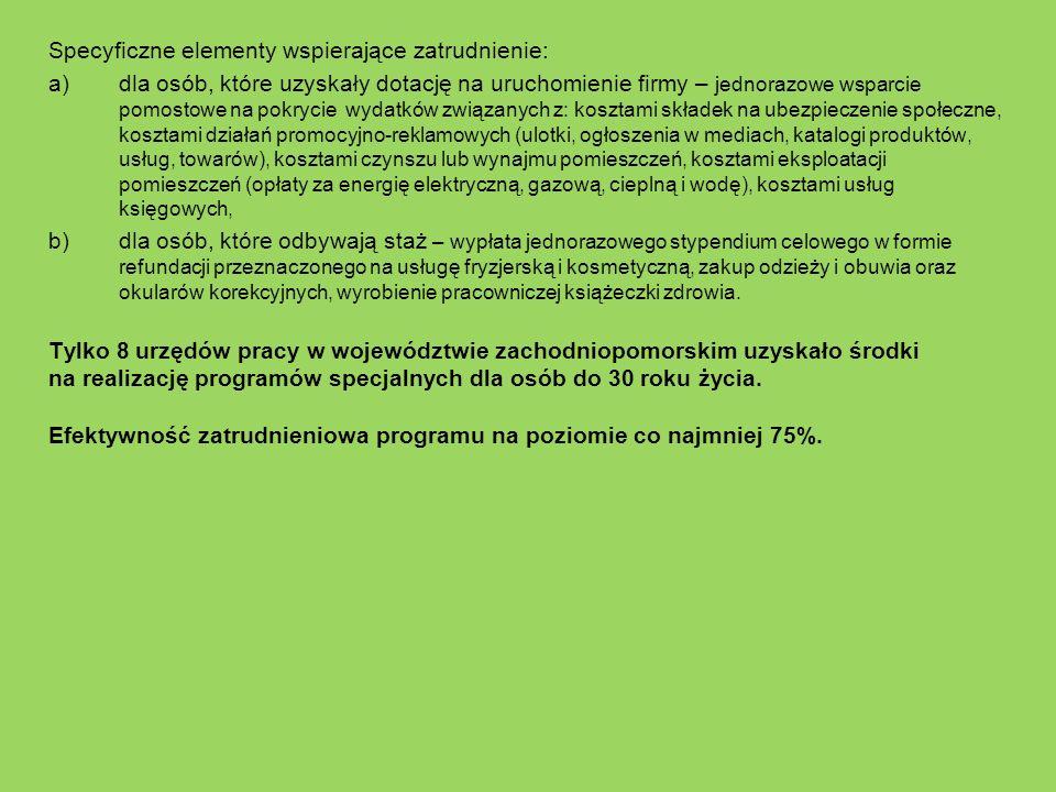 Tylko 8 urzędów pracy w województwie zachodniopomorskim uzyskało środki na realizację programów specjalnych dla osób do 30 roku życia. Efektywność zat