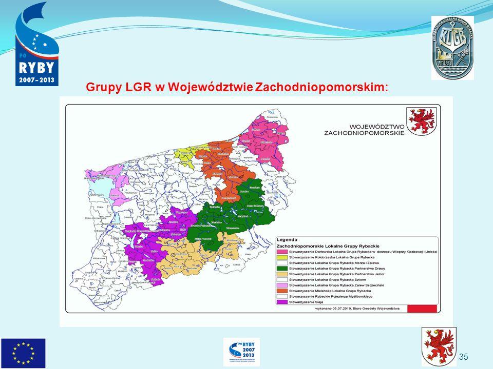35 Grupy LGR w Województwie Zachodniopomorskim: