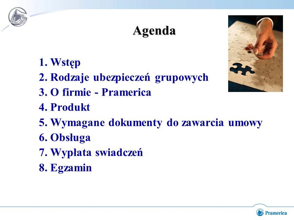 Agenda 1.Wstęp 2. Rodzaje ubezpieczeń grupowych 3.