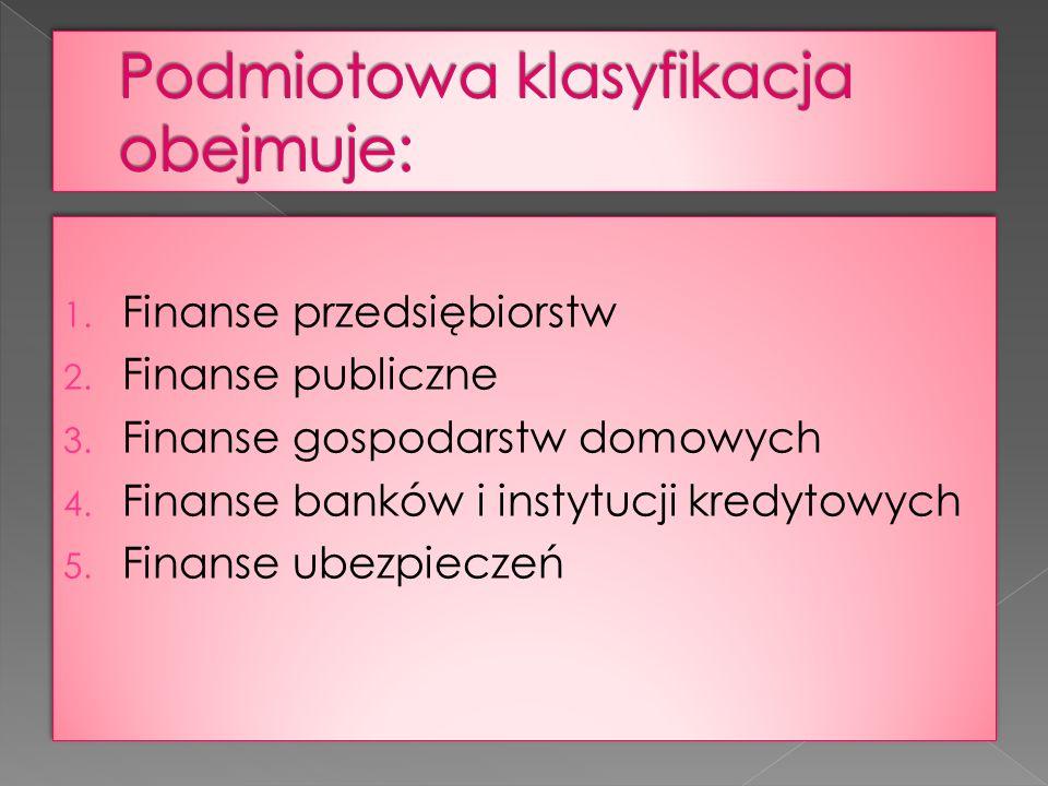 Operacje finansowe dokonywane przez przedsiębiorstwa mają podstawowe znaczenie dla funkcjonowania finansów jako całości.