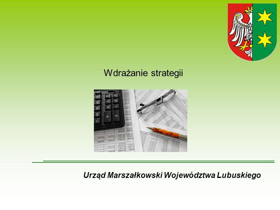 Wdrażanie strategii Urząd Marszałkowski Województwa Lubuskiego