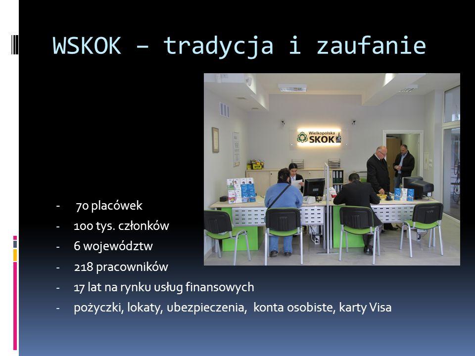 WSKOK – tradycja i zaufanie - 70 placówek - 100 tys.