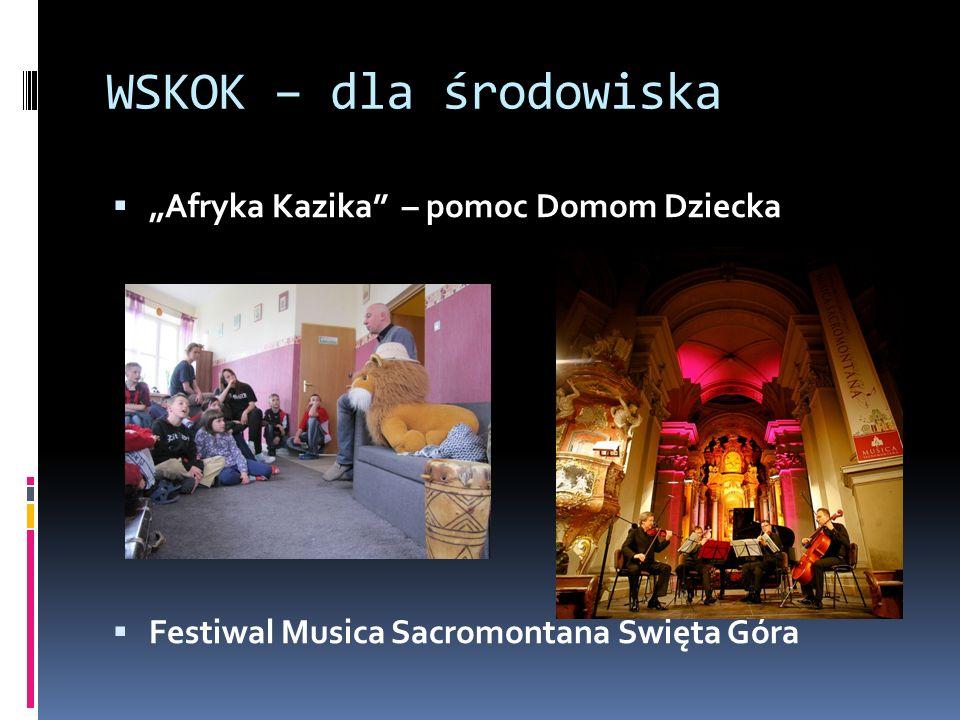 WSKOK – dla środowiska Afryka Kazika – pomoc Domom Dziecka Festiwal Musica Sacromontana Święta Góra
