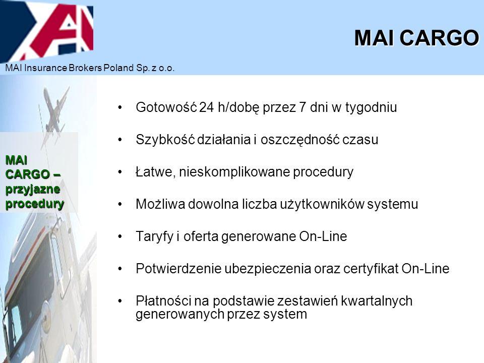 https://cargo.maiservice.pl/ MAI CARGO MAI Insurance Brokers Poland Sp. z o.o.