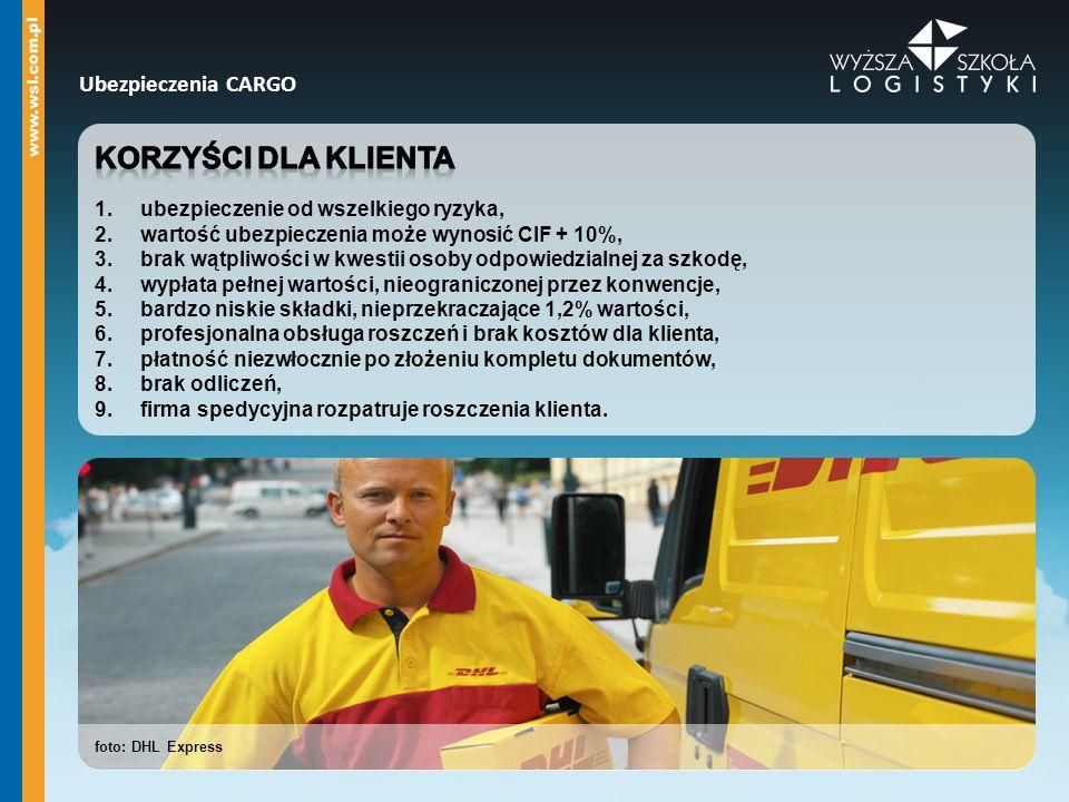 foto: DHL Express Ubezpieczenia CARGO
