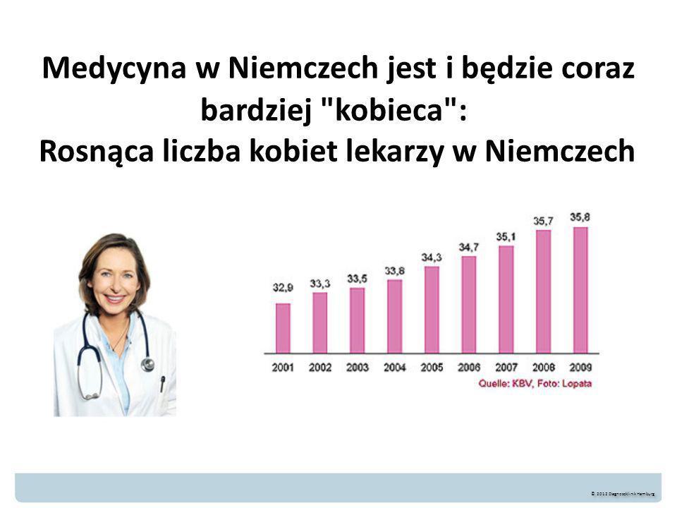 Medycyna w Niemczech jest i będzie coraz bardziej kobieca : Rosnąca liczba kobiet lekarzy w Niemczech © 2012 Diagnoseklinik Hamburg