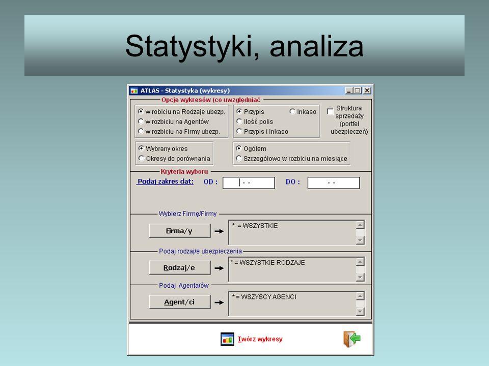 Statystyki, analiza