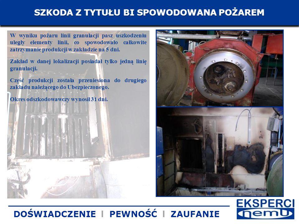 W wyniku pożaru linii granulacji pasz uszkodzeniu uległy elementy linii, co spowodowało całkowite zatrzymanie produkcji w zakładzie na 5 dni. Zakład w
