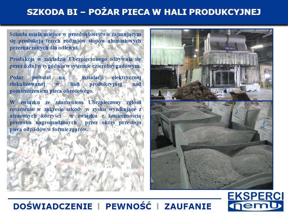 Szkoda miała miejsce w przedsiębiorstwie zajmującym się produkcją trzech rodzajów stopów aluminiowych przeznaczonych dla odlewni. Produkcja w zakładzi