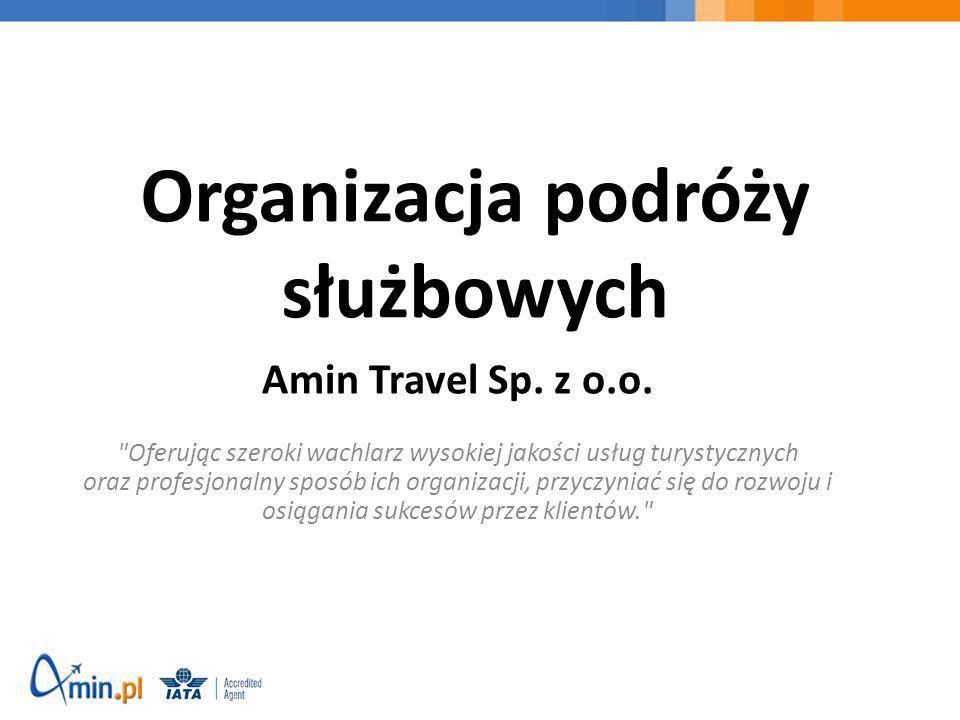 Organizacja podróży służbowych Amin Travel Sp. z o.o.