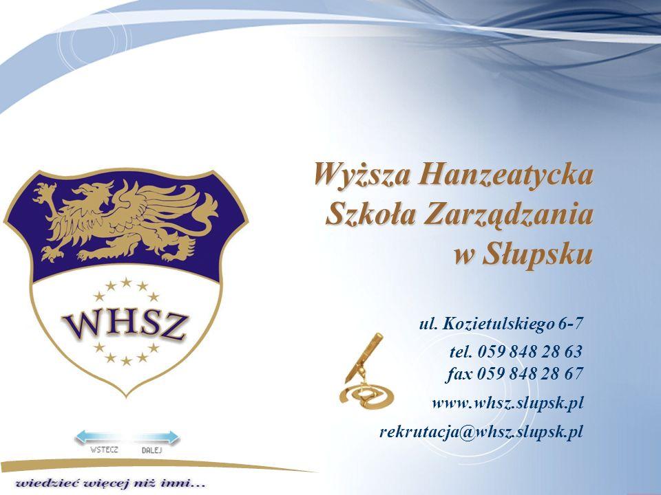 Wyższa Hanzeatycka Szkoła Zarządzania w Słupsku ul.
