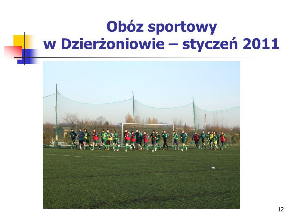 Obóz sportowy w Dzierżoniowie – styczeń 2011 12