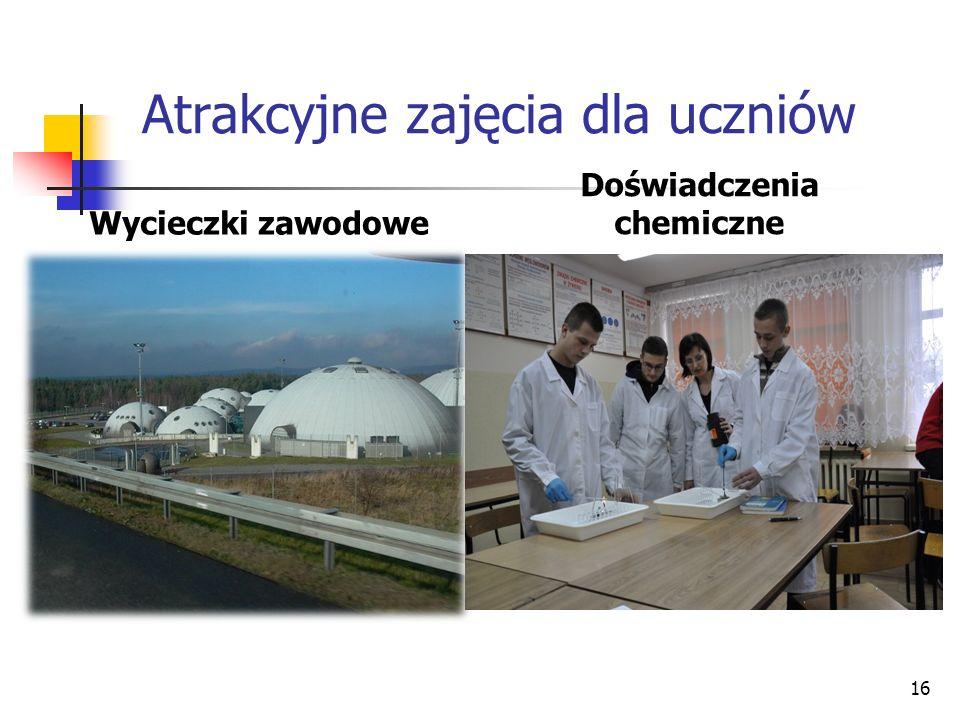 Atrakcyjne zajęcia dla uczniów Wycieczki zawodowe Doświadczenia chemiczne 16