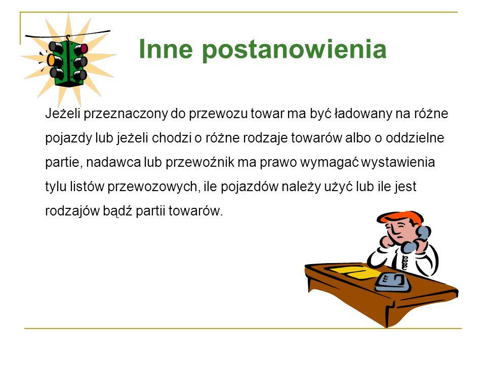 Przykłady listów przewozowych można oglądać na kolejnym slajdzie oraz w załączonym pliku pdf