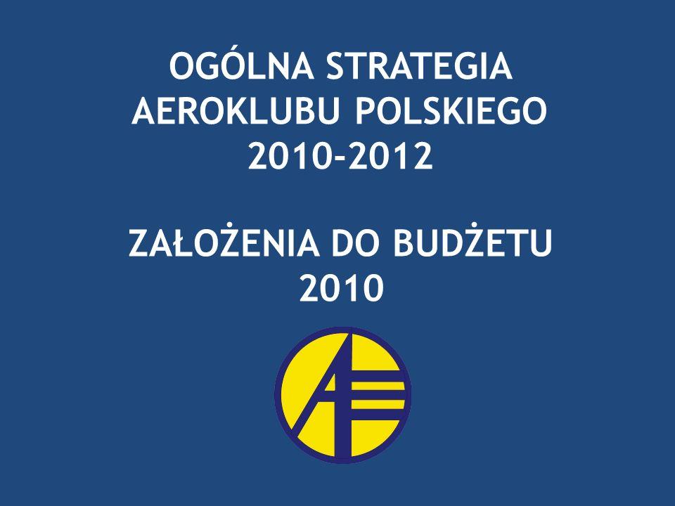 OGÓLNA STRATEGIA AEROKLUBU POLSKIEGO 2010-2012 ZAŁOŻENIA DO BUDŻETU 2010