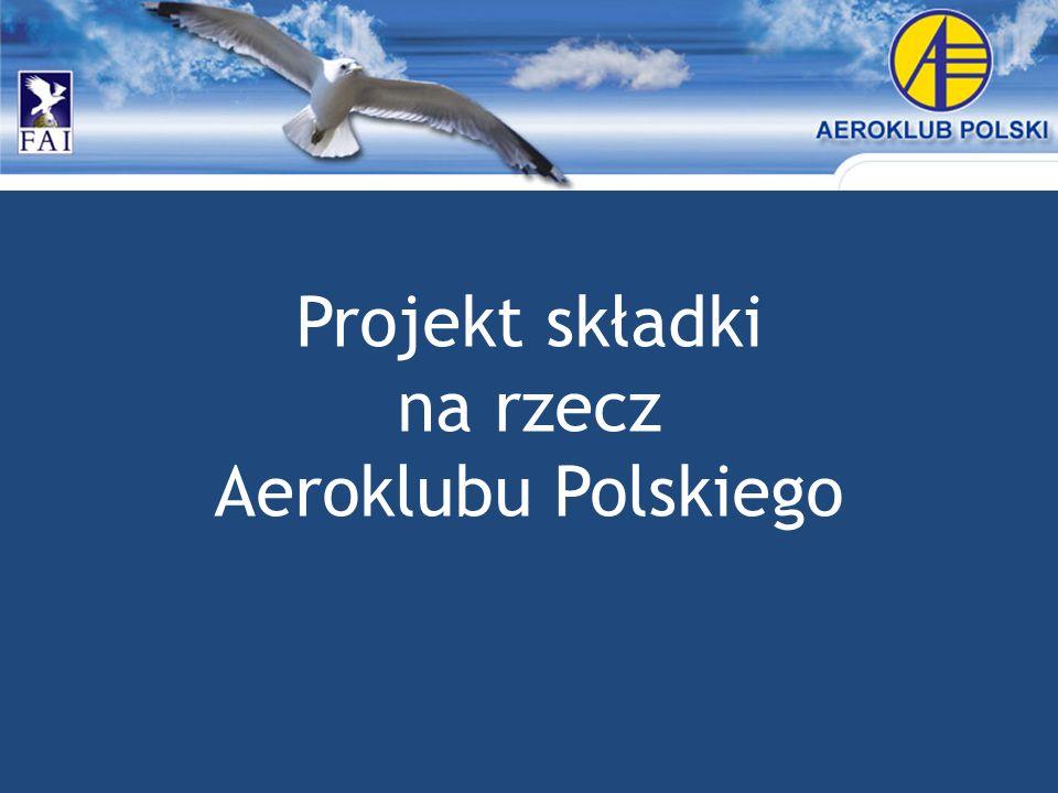 Projekt składki na rzecz Aeroklubu Polskiego