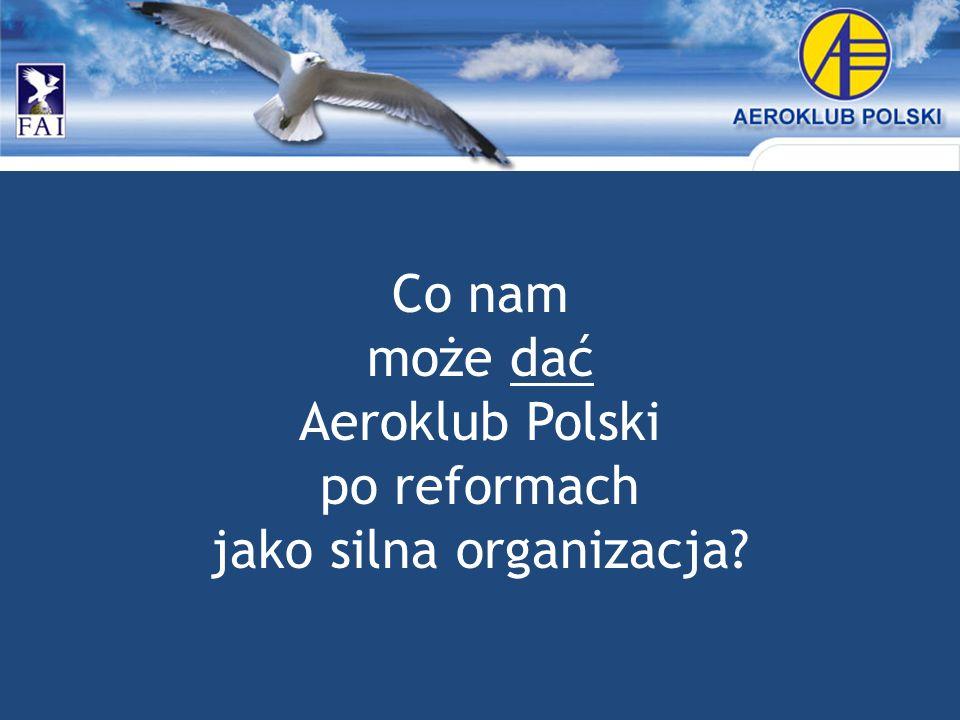 Co nam może dać Aeroklub Polski po reformach jako silna organizacja?