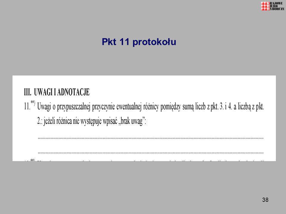 38 Pkt 11 protokołu