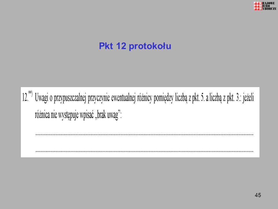 45 Pkt 12 protokołu