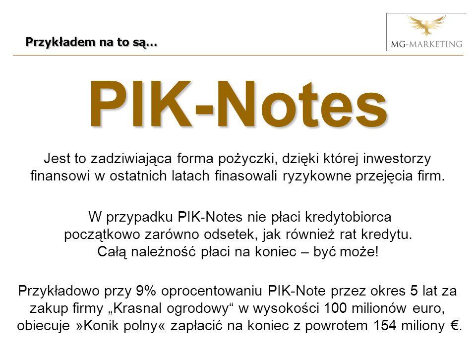 PIK-Notes Przykładem na to są...