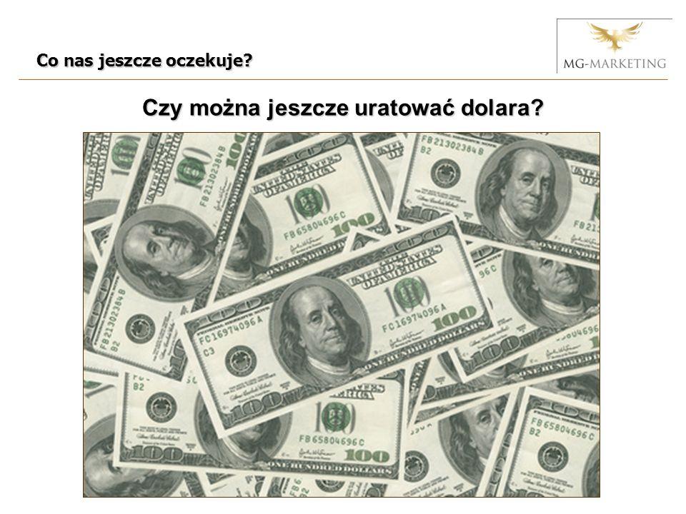 Co nas jeszcze oczekuje? Czy można jeszcze uratować dolara?