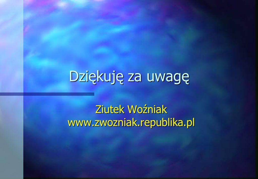 Dziękuję za uwagę Ziutek Woźniak www.zwozniak.republika.pl