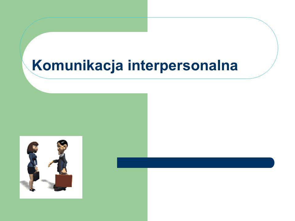 dr Grażyna Maciak 2 Komunikacja interpersonalna 1.