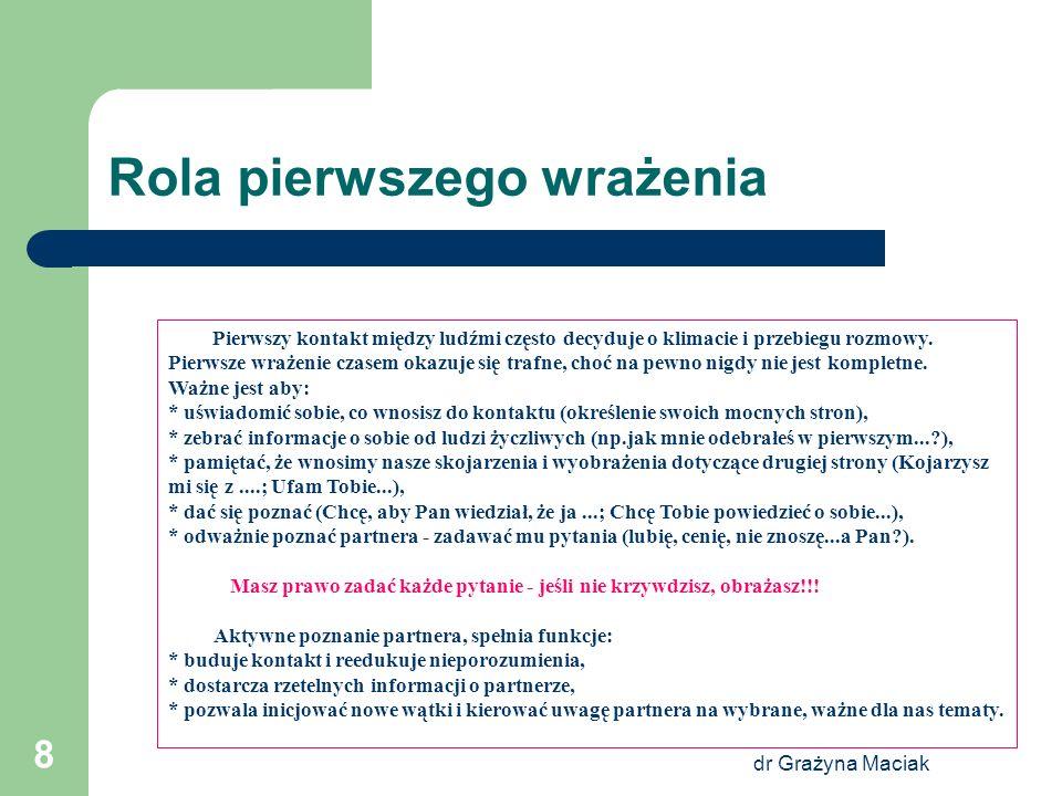 dr Grażyna Maciak 19 Jak zwiększyć swoją atrakcyjność.