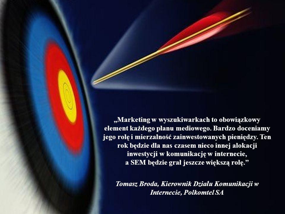 Marketing w wyszukiwarkach to obowiązkowy element każdego planu mediowego. Bardzo doceniamy jego rolę i mierzalność zainwestowanych pieniędzy. Ten rok