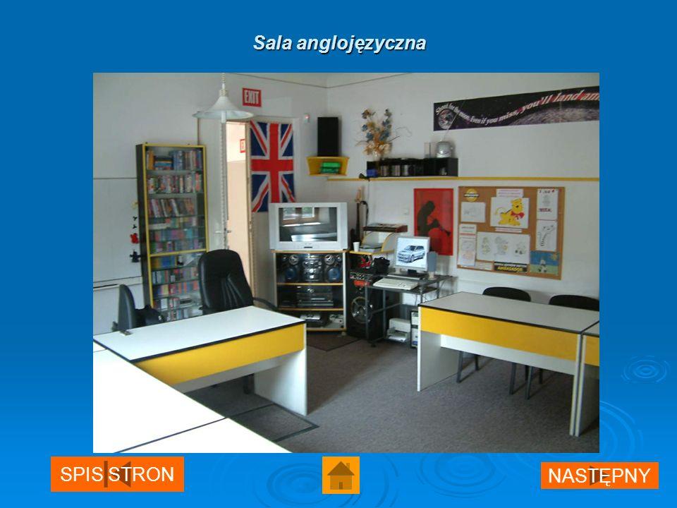 Sala anglojęzyczna NASTĘPNY SPIS STRON
