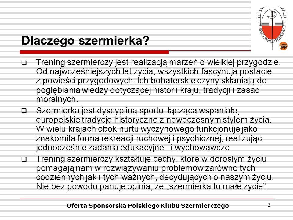 3 Potencjał marketingowy szermierki Szermierze są gwiazdami kampanii reklamowych różnych branż, a ich potencjał marketingowy jest ogromny.