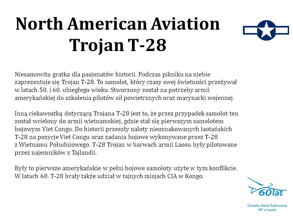 Niesamowita gratka dla pasjonatów historii. Podczas pikniku na niebie zaprezentuje się Trojan T-28. To samolot, który czasy swej świetności przeżywał