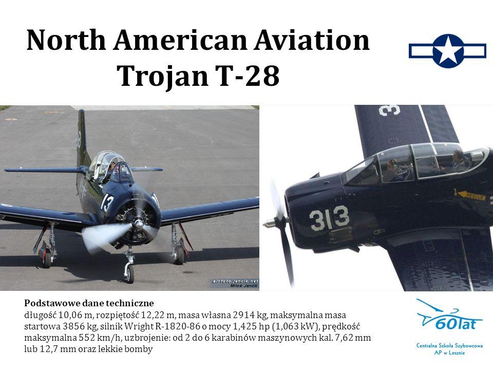 Podstawowe dane techniczne długość 10,06 m, rozpiętość 12,22 m, masa własna 2914 kg, maksymalna masa startowa 3856 kg, silnik Wright R-1820-86 o mocy