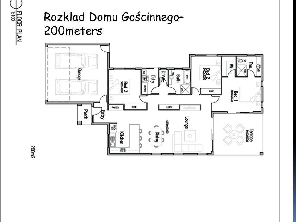 Rozklad Domu Gościnnego– 200meters